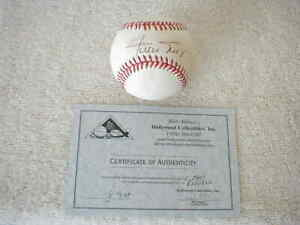 WILLIE MAYS SIGNED BASEBALL & Certificate of Authenticity