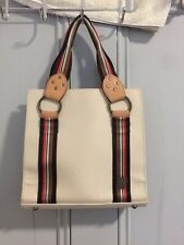 VINTAGE ANNA SUI Beige Canvas Mini Tote With Leather And Brass Fastening