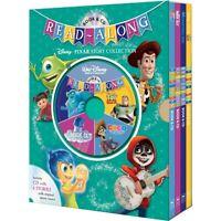 NEW Read-Along Disney Pixar Story Collection Book & CD 4 Stories Collection Set!