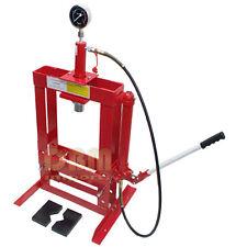 10 Ton Hydraulic Shop Press Floor Bench Top w/ Pressure Gauge FREE SHIPPING