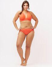 Sunset Orange 26W 4X Lane Bryant Plus Size Strappy No Wire Bikini Swimsuit Top!