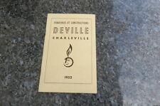 catalogueancien fonderies Deville poêles cheminées calorifères cuisinières