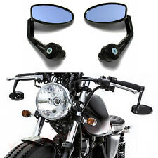 """MOTORCYCLE 7/8"""" HANDLE BAR END REARVIEW MIRRORS FOR TRIUMPH BOBBER CAFE RACER MT"""