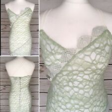 Topshop Mint Green Strappy Lace Dress Size 10 UK Formal Holiday Race Day