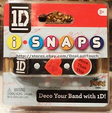 ONE DIRECTION iSNAPS Bracelet/Band w/ 3 1D Charms Heart+ Square+ Circle 6/20