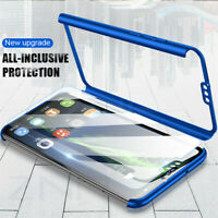 For Huawei Honor 8X Max 7X 9 10 Lite 360° Full Slim Cover Case + Tempered Glass