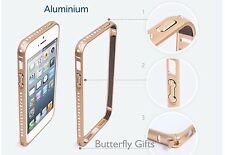 DIAMOND CRYSTAL BLING ALUMINIUM BUMPER CASE COVER IPHONE MODELS 5 5S 6 6+ 7, 7+
