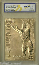 Michael Jordan 1997 Fleer SkyBox Z Force 23kt Gold Card - Graded Gem MINT 10