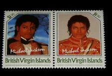Vintage Stamp,1986 BRITISH VIRGIN ISLANDS,Never Issued,Micheal Jackson,SE-TENANT