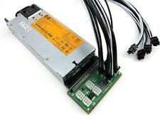 HP 750w Power Supply + 7 PCI-E 16AWG PSU Kit for Antminer L3 Litecoin Miner LTC