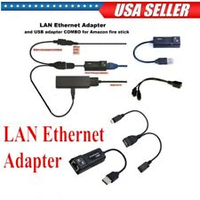 LAN Ethernet Connector & USB Adapter For Amazon Fire Stick 2nd Generation Use
