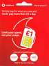 UK Vodafone Official Pay as you go 1 SIM Card (3-in-1 SIM for all phones)