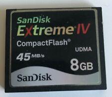 SanDisk 8GB Exttreme IV CompactFlash SDCFX 45MB/s