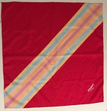 Vtg Newport Stripes Cigarettes Promotional Red Square Scarf 28x28 Rainbow