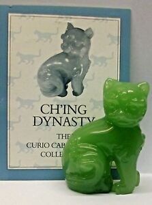 FRANKLIN MINT CURIO CABINET CAT COLLECTION FIGURINE THE -CH'ING DYNASTY- NO CERT