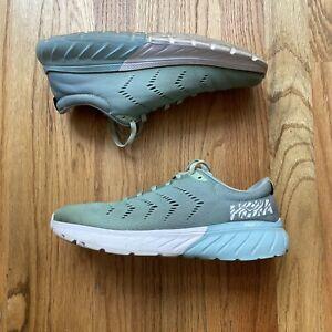 Women's Hoka One One Mach 2 Mint Green Pastel Blue White Running Sneakers Sz 7.5
