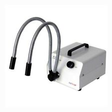 AmScope HL150-AY-V220 150W Dual Goose-neck Fiber-Optic Illuminator 220V Version