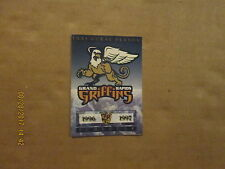 IHL Grand Rapids Griffins 1996 1997 Inaugural Season Logo Hockey Pocket Schedule