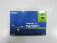 Linksys WMP54G Wireless-G PCI Adapter, In Box all manuals, CDs, Excel working