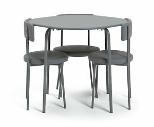 Habitat Jayla Wood Effect Dining Table & 4 Grey Chairs