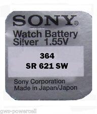 5 x Sony 364 Knopfzelle Uhrenbatterie V364 SR621SW SR60 SR621 AG1 Blister