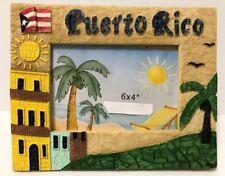 PUERTO RICO FLAG CASITAS PALMS TABLE PHOTO FRAME GIFT SOUVENIRS pictures 6x4