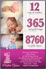 10 1ST Cumpleaños Invitaciones Personalizadas Mi Niña Con Fotos & Gastos de Envío Gratis