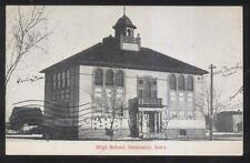 POSTCARD GERMANIA IA/IOWA HIGH SCHOOL CAMPUS BUILDING 1907