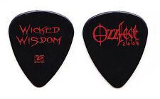 Wicked Wisdom Black Guitar Pick - 2005 OzzFest Tour