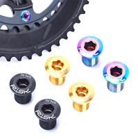 RISK M8*10mm Road Bike Crank Bolts Titanium Bike Chainring Bolts Bicycle Parts