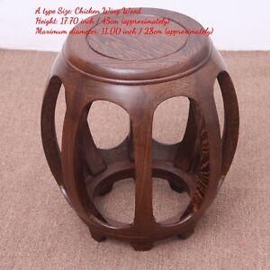 Aged rosewood Guzheng Guqin Seat stool Garden stool Drum Stool Round stool #3015