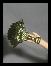 ACCESSORY MATTEL BARBIE DOLL DOTW ANCIENT MEXICO FAUX GOLD HAND FAN FOR DIORAMA