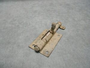 1930s French Vintage  IRON Door Lock Bolt & keeper