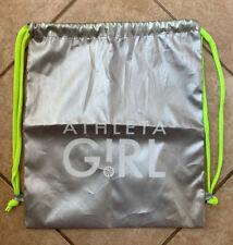 Athleta Girl Backpack Drawstring Travel Bag (Silver)