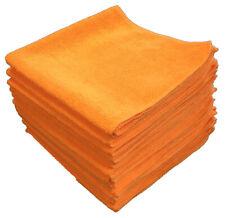 "Shine Dr. Microfiber Towels 16""x16"" Orange(Qty.12) Ultra Absorbent, Scratch Free"