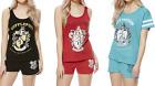Harry Potter Vest/Shorts Pyjamas Set Ladies F&F Hufflepuff/Slytherin/Gryffindor