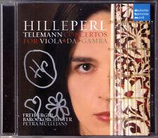 Hille PERL Signiert TELEMANN Viola da Gamba Concerto Sonata CD Santana Müllejans