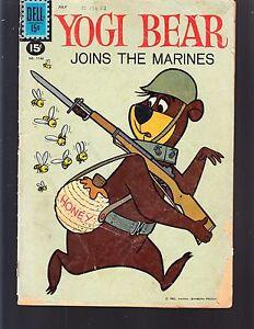 YOGI BEAR JOINS THE MARINES #1162 DELL 1961 VG  MOVIE/TV.HANNA-BARBERA 4-COLOR