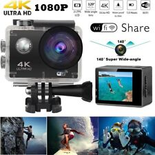 "2"" 4k Ultra HD 12mp Helm Action Camera Sports DV WiFi Cam 30m Waterproof"