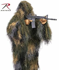 Camouflage Lightweight Hunting & Airsoft Outdoor Ghillie Jacket Rothco 95128