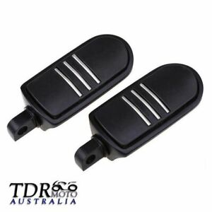 1 Pair Black Motorcycle Highway Passenger Foot Pegs Pedals for Harley Davidson