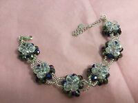 Czech real Crystal bracelet amazing colour changing sparkling Aurora bl/white