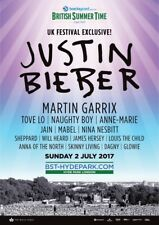 JUSTIN BIEBER / MARTIN GARRIX 2017 LONDON, U.K. CONCERT TOUR POSTER - Pop, R&B