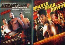NEVER BACK DOWN 1-2: Beatdown-Michael Jai White-Sean Faris-Martial Arts-NEW 2DVD