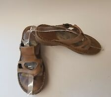 Born Handcrafted Tan Shoes Slip On Sandals Women's Size 8M