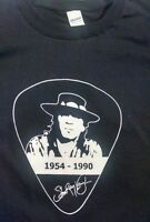 Stevie Ray Vaughan vintage style t shirt blues rock pic rip guitar sm-5xlg blk