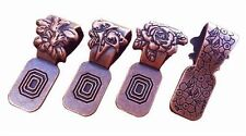 Antique Copper Flower Art Bails Jewelry Cabochon Variety 12 PC