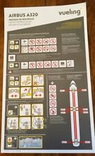 vueling Airbus A320 airline safety card V01_12/2017 very good condition