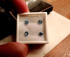 4pc Diamond Cut Russian URAL MT.Murzinka, Ekaterinburg 2.45ct Swiss Blue Topaz