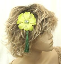 Fleur verte et Tassel bandeau assorti diamantie